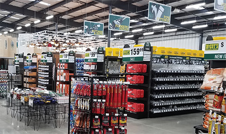 inside of new hardware store